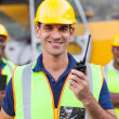 Stock Photo: Contractor with walkie-talkie