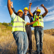 Stock Photo: Successful construction workers