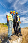 All'aperto di operai di costruzione — Foto Stock
