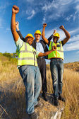 Successful construction workers — Stock Photo