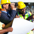Stock Photo: Project manager looking at the construction site