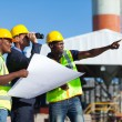 Project manager visiting construction site — Stock Photo