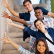 Playful group of teenage students — Stock Photo #26746875