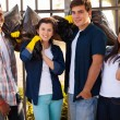 Group of teenage volunteers — Stock Photo