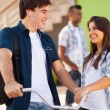 Stock Photo: Teen high school friends