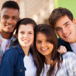 Group of cheerful teenage friends — Stock Photo