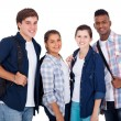 Teenage boys and girls — Stock Photo