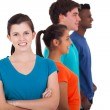 Stock Photo: Diverse group of teenagers