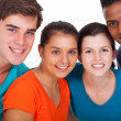 Group of diversity young — Stock Photo