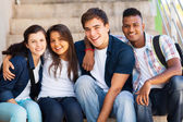 Group of high school students — Foto Stock