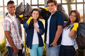 Group of teenage volunteers — Stock Photo