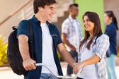 Teen high school friends — Stock Photo