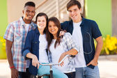 Group of high school students outdoors — Stock Photo