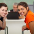 High school girls in computer class — Stock Photo #26792241