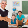 Middle aged teacher standing in front of the class — Stock Photo #26794969