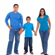 Indian family holding hands — Stock Photo #26795805