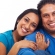 Lovely indian husband and wife portrait — Stock Photo #26798703