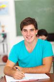 Lise öğrencisi sınıf iş yazma — Stok fotoğraf