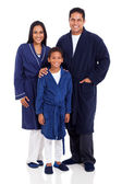 Indian family wearing nightclothes — Stock Photo
