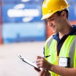 Stock Photo: Container warehouse worker