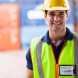 Harbor warehouse worker — Stock Photo