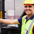 Senior forklift driver portrait — Stock Photo