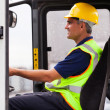 Professional forklift operator — Stock Photo