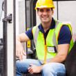 Stock Photo: Young forklift driver