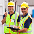 Stock Photo: Senior warehouse worker and colleague
