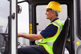 Professional forklift operator — Stock Photo