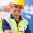 Senior container shipping company worker — Foto Stock #27050211