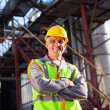 Stock Photo: Senior engineer in oil and chemical plant