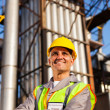 Optimistic senior chemical industry worker — Stock Photo #27584247