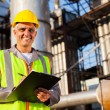 Happy middle aged oil industry worker — Stock Photo