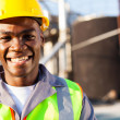 African american petrochemical worker portrait — Stock Photo