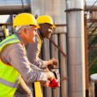 Stock Photo: Industrial workers in safety gear
