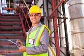 Senior petrochemical worker — Stock Photo