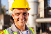 Senior oil and chemical worker — Stock Photo