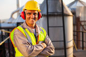 Middle aged oil chemical industry worker — Stock Photo