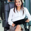 Indian corporate worker sitting in office — Stock Photo #27893457