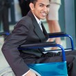 Young Arabic handicapped businessmin office — Stock Photo #27894353