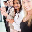 Group of business team applauding — Stock Photo
