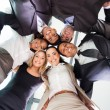 Foto Stock: Underneath view of business people