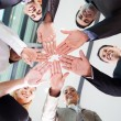 Stock Photo: Business team hands together