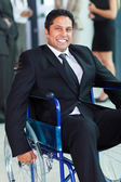 Optimistic handicapped businessman — Stock Photo