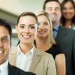 Successful business people in a row — Stock Photo