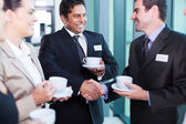 Business people interacting during conference — Stock Photo