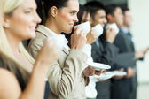 Business conference coffee break — Stock Photo