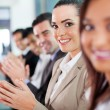 Stock Photo: Group of business people applauding