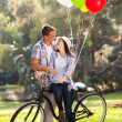 Romantic teen couple dating — Stock Photo #28180703